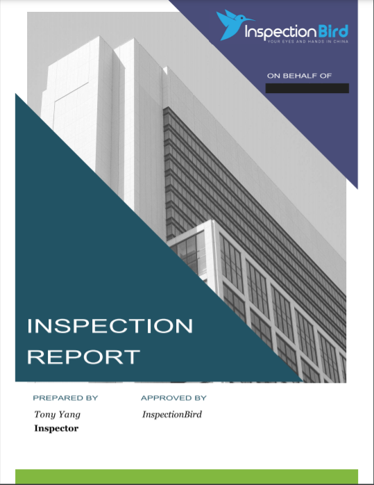 Pre-Shipment Inspection Report
