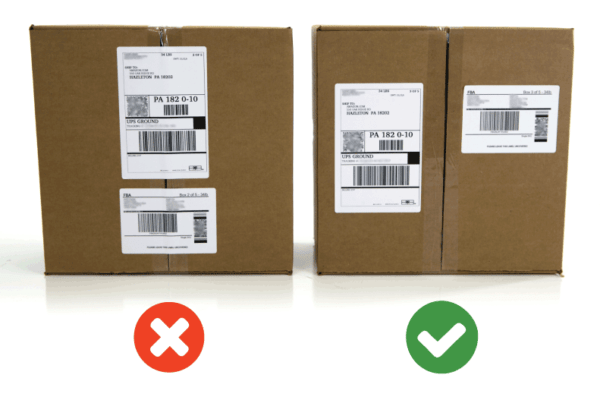 Wrongly labeled Amazon FBA Packages